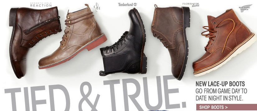 TIED & TRUE. SHOP BOOTS