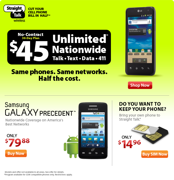 $45 Unlimited Nationwide