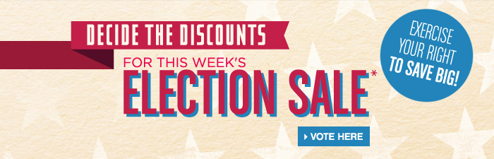 decide the discounts for next week's election sale