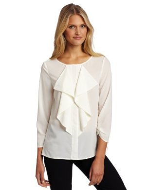 Anne Klein <br/>Ruffle Front Blouse