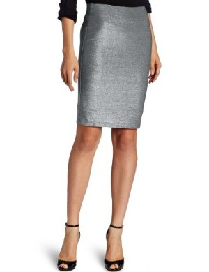 Only Hearts <br/> Metallic Jersey Pencil Skirt