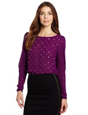 Vince Camuto <br/>Allover Studded Blouse