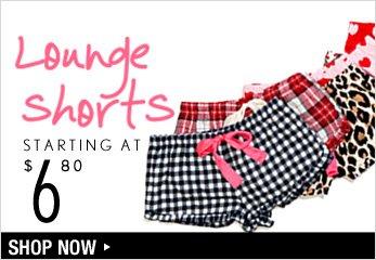 Lounge Shorts Starting at $6.80 - Shop Now