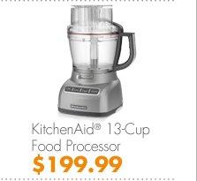 KitchenAid® 13-Cup Food Processor $199.99