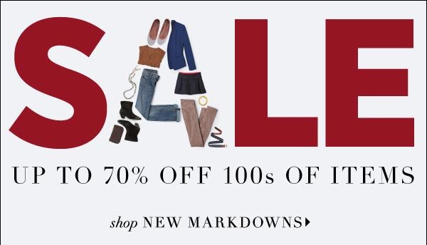 Mid-season starts today! Shop new markdowns on exactly what you need in your wardrobe now. Shop Sale  >>