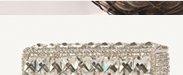 Diamante Silver Box Clutch