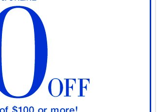 Today Only!  Take $50 off your purchase of $100 or more In-Store & Online. Shop Now