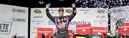 NASCAR Star Clint Bowyer In the Championship Hunt After Charlotte Triumph