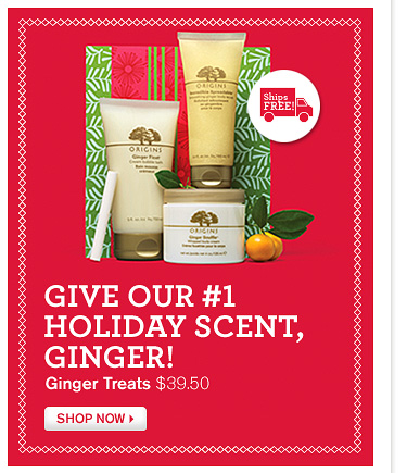 GIVE OUR number 1 HOLIDAY SCENT GINGER Ginger Treats 39 dollars and 50 cents SHOP NOW