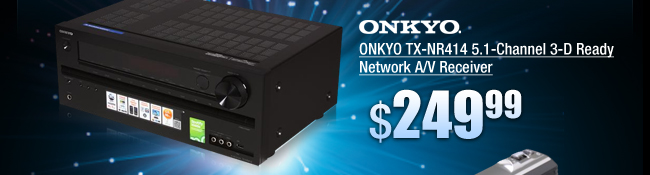 ONKYO TX-NR414 5.1-Channel 3-D Ready Network A/V Receiver
