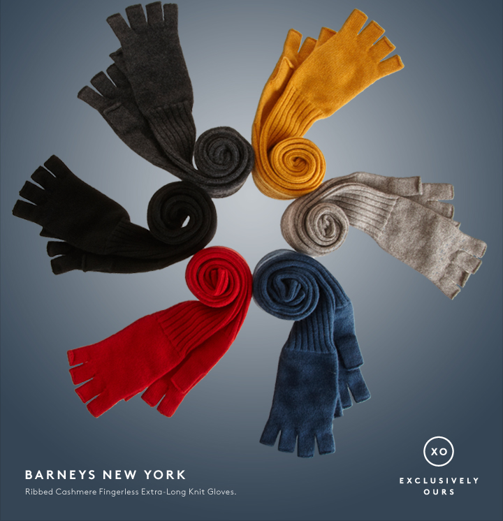 Embrace the chill: Shop colorful gloves from Barneys New York.