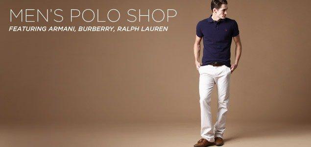 Men's Polo Shop Featuring Armani, Burberry, Ralph Lauren