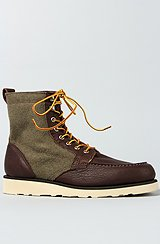 The Stockton Boot in Chocolate & Wool