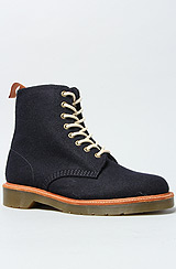 The Beckett 8-Tie Boot in Navy
