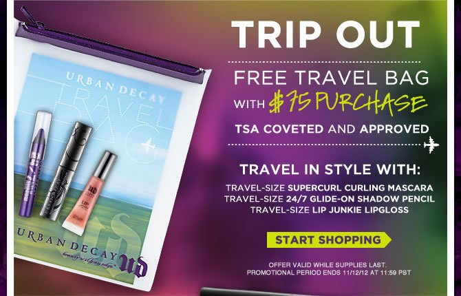 Trip Out - Free Travel Bag with $75 Purchase