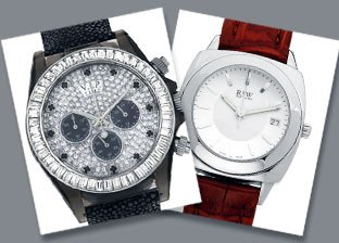Get the Look: Men's & Women's Leather Strap Watches