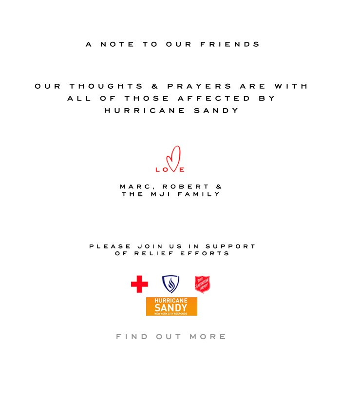 Marc Jacobs | Hurricane Sandy Relief