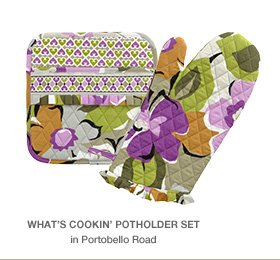 What's Cookin' Potholder Set in Portobello Road