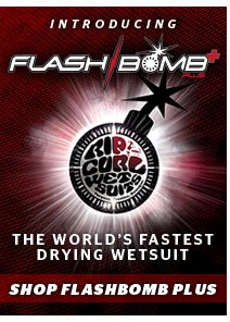 Introducing FlashBomb Plus - The World's Fastest Drying Wetsuit