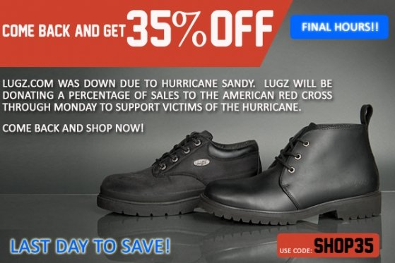 FINAL HOURS - Get 35% Off! Come back and shop now