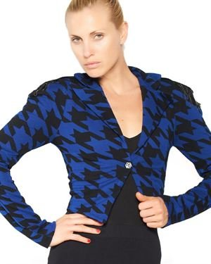 Nuvula Houndstooth Military Jacket $79