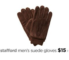 stafford men's suede gloves $15›