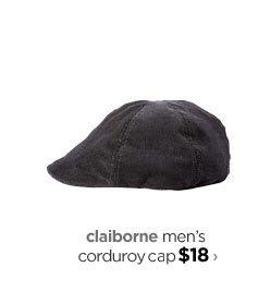 claiborne men's corduroy cap $18›