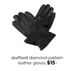 stafford diamond-pattern leather gloves $15›