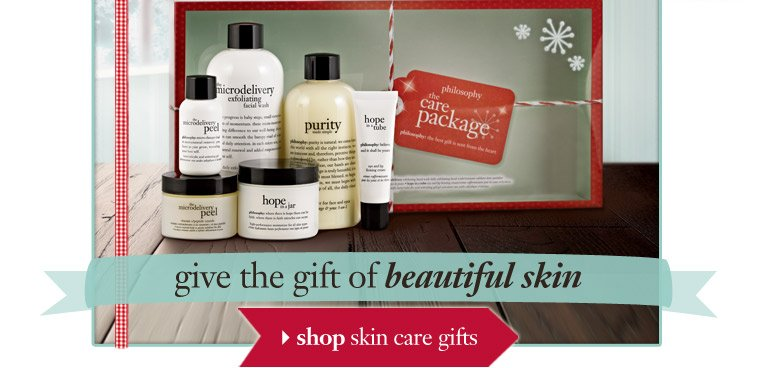 give the gift of beautiful skin - shop skin care gifts