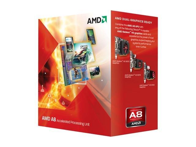 AMD A8-3850 Llano 2.9GHz Socket FM1 100W Quad-Core Desktop APU (CPU + GPU) with DirectX 11 Graphic AMD Radeon HD 6550D AD3850WNGXBOX