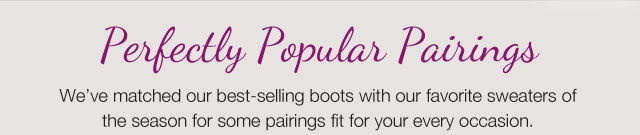 Perfectly Popular Pairings