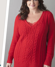 Cable knit sweater tunic by LANE BRYANT