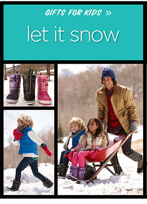 Gifts For Kids - let it snow