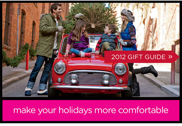 2012 Gift Guide - make your holidays more comfortable