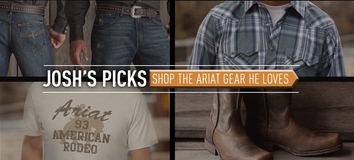 See the Ariat gear Josh Turner loves.