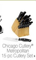 Chicago Cutlery® Metropolitan 15-pc Cutlery Set.