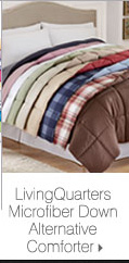 LivingQuarters Microfiber Down Alternative Comforter.