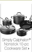 Simply Calphalon® Nonstick 10-pc Cookware Set.