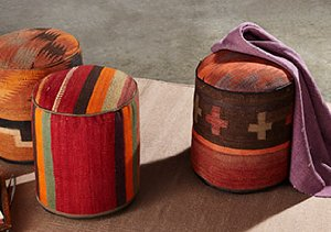 One of a Kind Turkish Poufs & Pillows