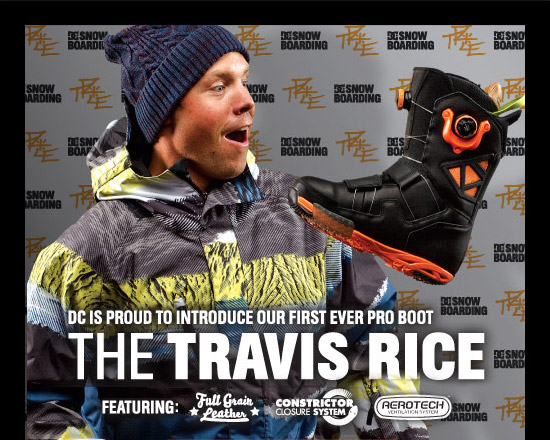 DC is Proud to Introduce Our First Ever Pro Boot - The Travis Rice