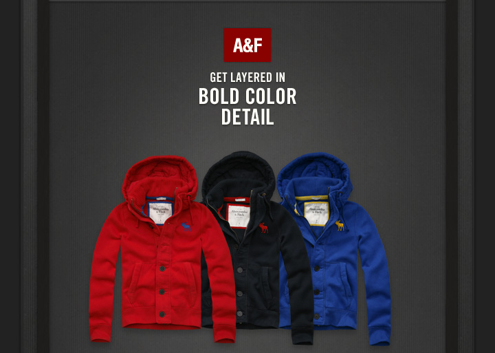 A&F GET LAYERED IN BOLD COLOR DETAIL