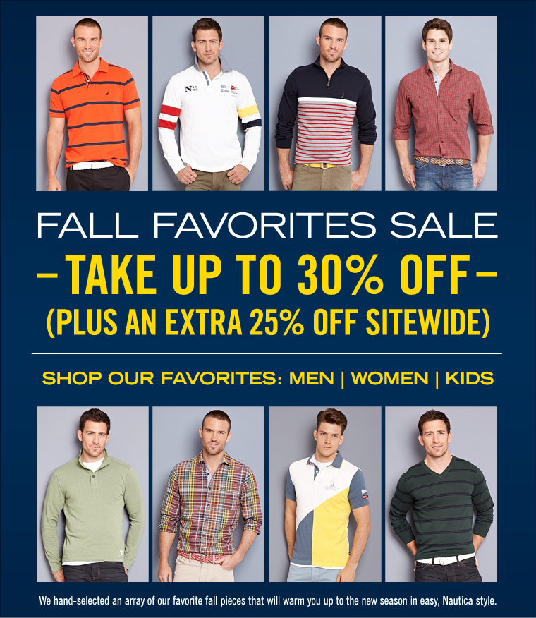 Fall Favorites Sale! Take Up To 30% off PLUS an EXTRA 25% off Sitewide.