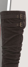 Buckled slouch boot