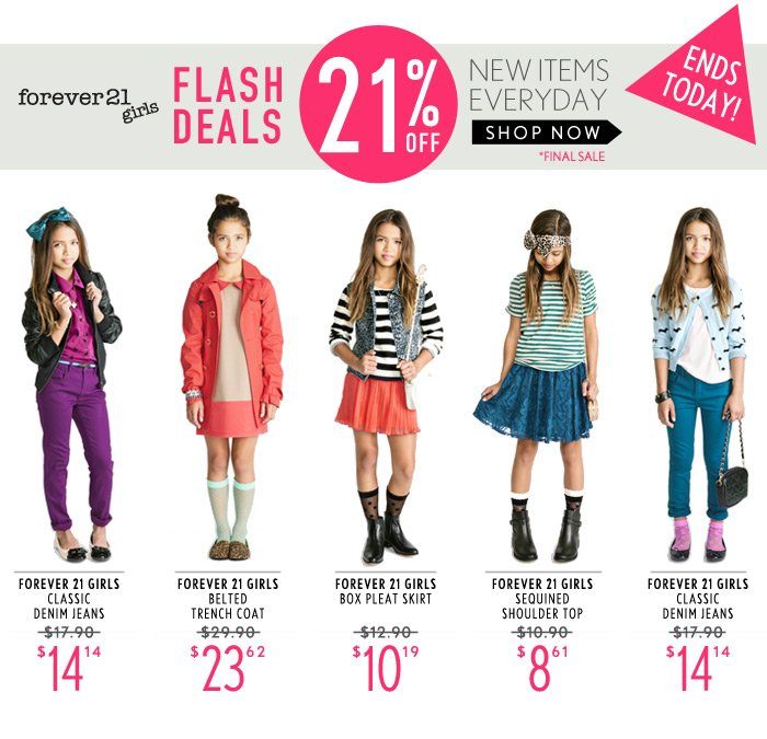 ONE DAY FLASH DEAL – 21% Off GIRLS
