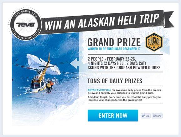 Win an alaskan heli trip - ENTER NOW
