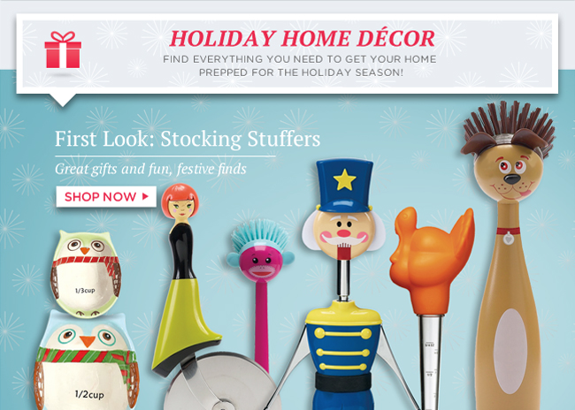 Find everything you need to get your home prepped for the holiday season! | Shop First Look: Stocking Stuffers now