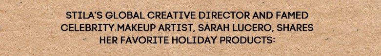 sarah lucero, stila'sglobal creative director