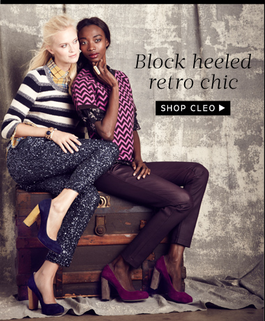 Block heeled retro chic. Shop Cleo