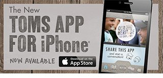 The TOMS app for iPhone - download now