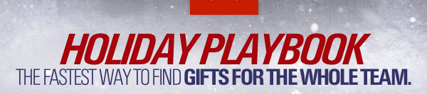 HOLIDAY PLAYBOOK - THE FASTEST WAY TO FIND GIFTS FOR THE WHOLE TEAM.